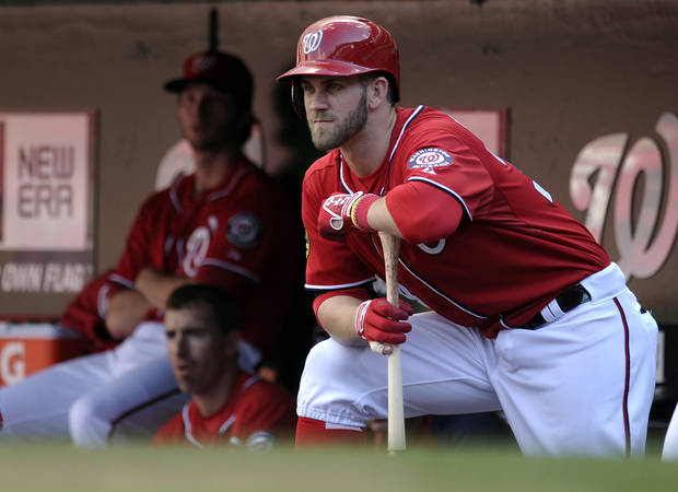 Washington Nationals outfielder Bryce Harper tweeted support for OU quarterback Kendal Thompson, Harper's former baseball teammate. AP PHOTO
