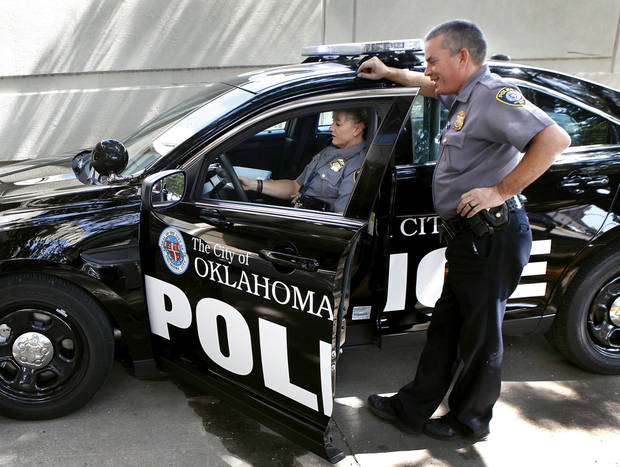 The Oklahoma City police department is replacing its current fleet of patrol cars with 2013 Ford Interceptor models. Photo by Jim Beckel, The Oklahoman