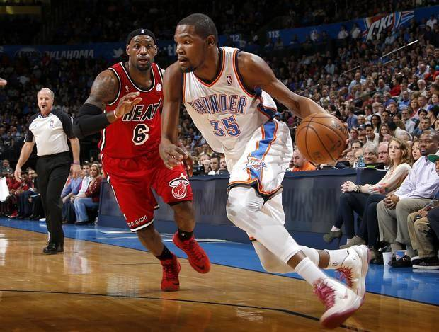 Kevin Durant will get another crack at LeBron and the Heat on Jan. 29th in Miami. / Photo by Bryan Terry, The Oklahoman