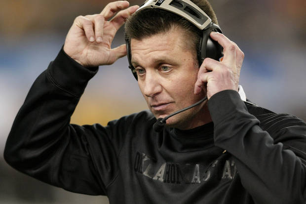 Following the Cotton Bowl, the media saw the Mike Gundy of old says Berry Tramel. (AP Photo/Brandon Wade)