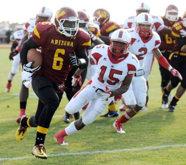 University of Oklahoma running back Damien Williams at Arizona Western College. PHOTO COURTESY ARIZONA WESTERN SPORTS INFORMATION