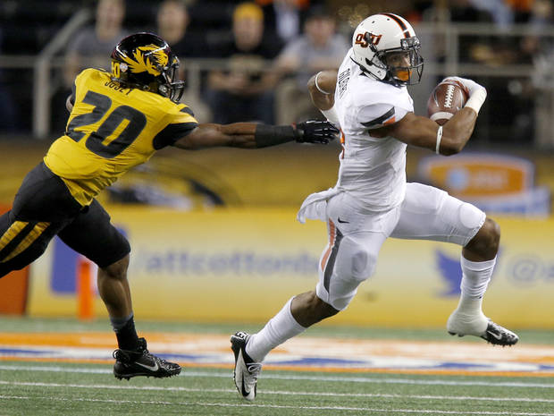 Oklahoma State's Justin Gilbert is projecting as a top 10 pick in several early mock drafts. Photo by Bryan Terry, The Oklahoman