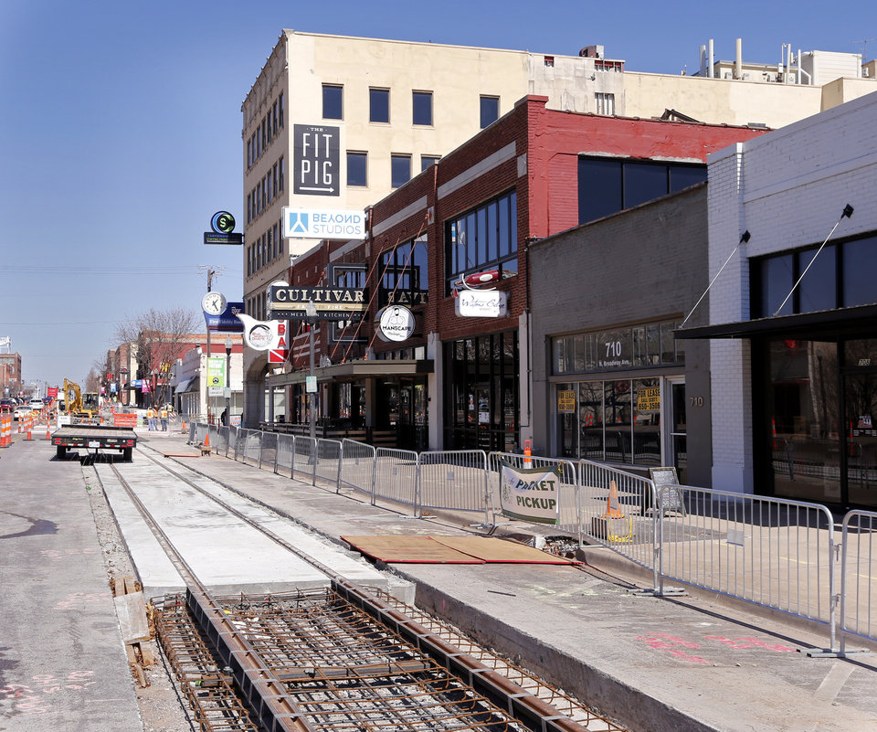 Photo - The latest addition to the construction contract for the MAPS 3 streetcar will bring the total to $53.4 million. Streetcar service begins in December.  [Photo by Steve Sisney, The Oklahoman]