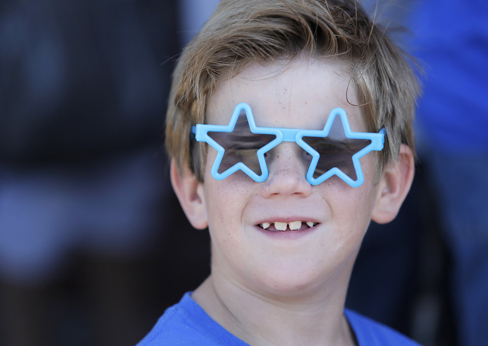 Lincoln Smith, 7, of Oklahoma City, waits in line for the red carpet premiere of Thunderstruck at Harkins Bricktown Theatre in Oklahoma City, Sunday, Aug. 19, 2012.  Photo by Garett Fisbeck, For The Oklahoman