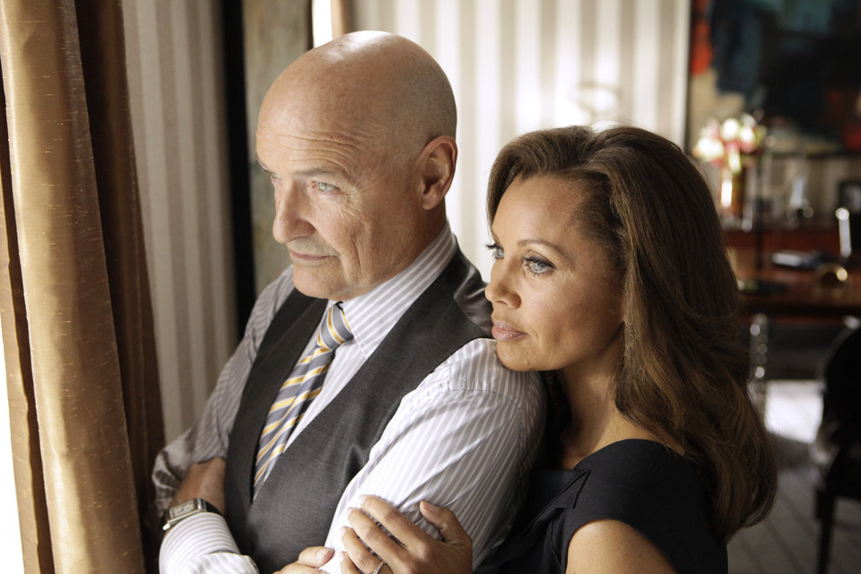 Photo -   FILE - This publicity file image released ABC shows Vanessa Williams as Olivia Doran, right, and Terry O'Quinn as Gavin Doran in a scene from the ABC series,