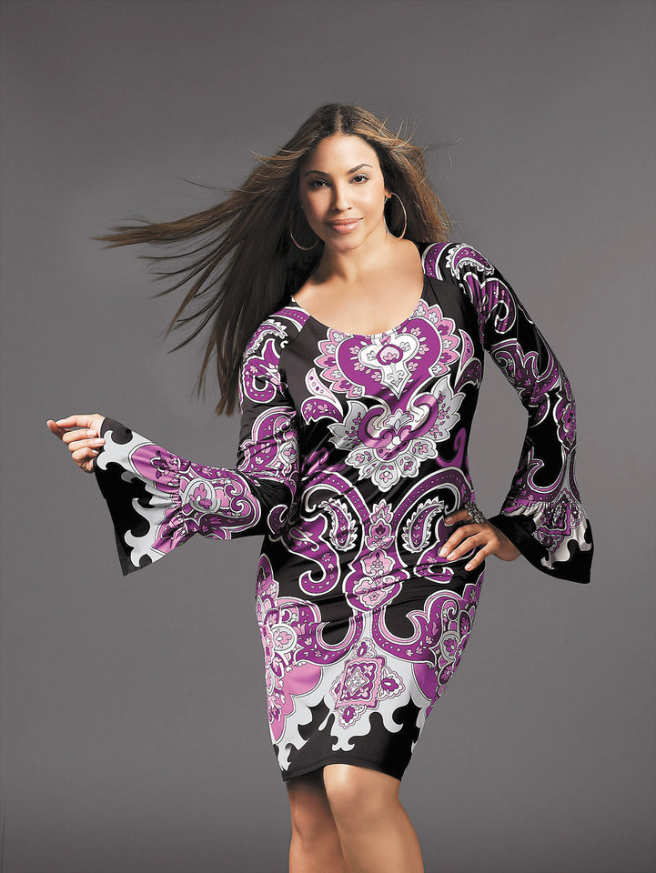 Photo - This product image released by Macy shows some of their latest fashions for plus-size women.(AP Photo/Macys)**NO SALES** ORG XMIT: NYLS210 ORG XMIT: OKC0908260842236025