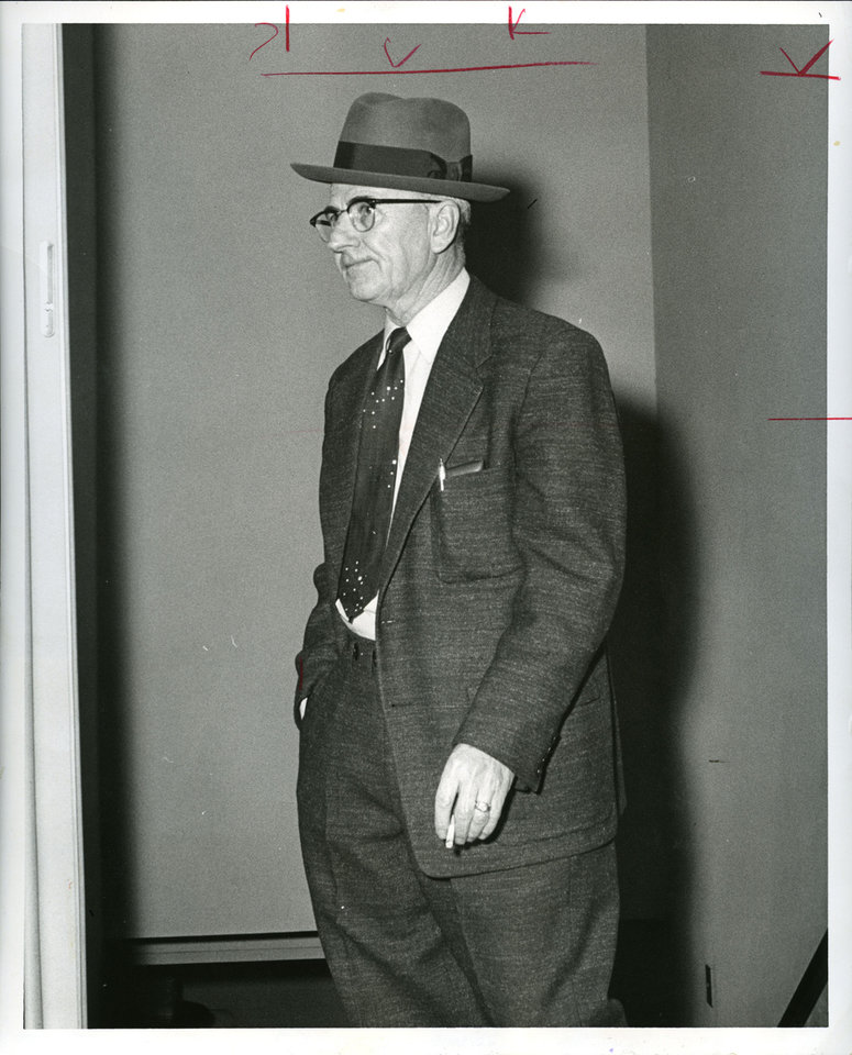 Gambler Hank Frey in 1958  OKLAHOMAN ARCHIVE PHOTO <strong></strong>