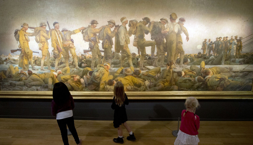 Photo - In this July 16, 2014 file photo, children view the John Singer Sargent painting
