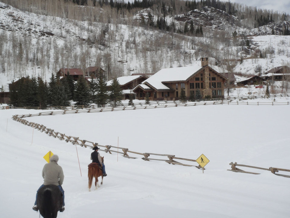 Photo -  Trail rides are one of the many horse-oriented activities available at Vista Verde ranch in Steamboat Springs, Colo. Photo courtesy of Lesley Sauls.