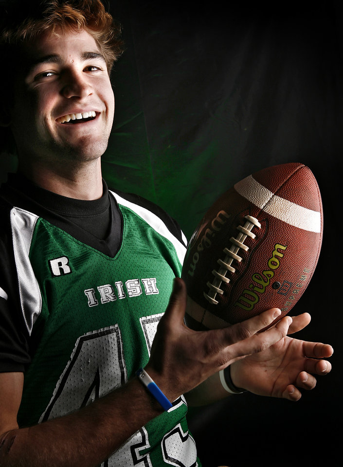 McGuinness High School's Towns Holmboe All Little City Linebacker. 