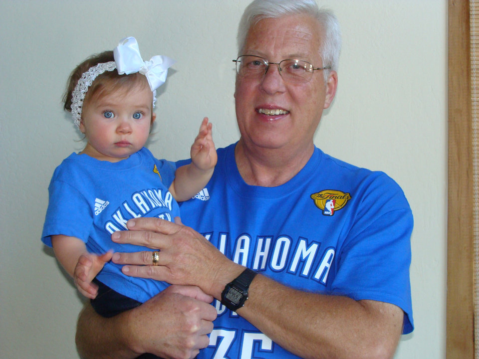 Grandpa and Avery love Thunder
