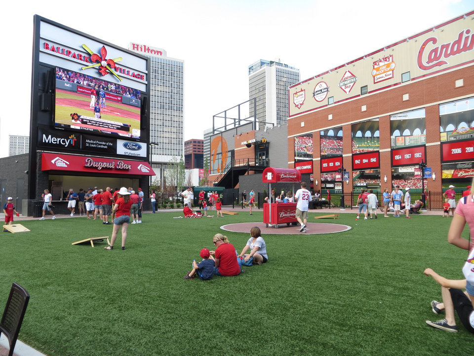 Photo -  Ballpark Village Busch II Infield sits on the site of the previous Busch Stadium. Photo by Elaine Warner, for The Oklahoman