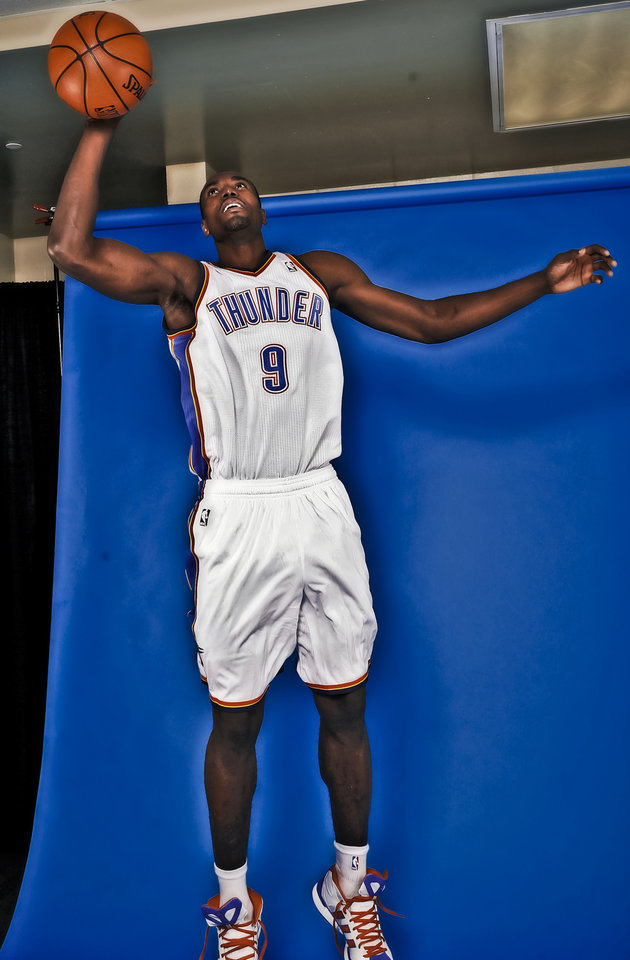 The Thunder\'s Serge Ibaka led the league in blocks at age 21. Photo by Chris Landsberger, The Oklahoman