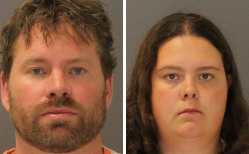 Photo - These images provided by the St. Lawrence County Sheriff's Office shows the booking photo of Stephen Howells II, left, and Nicole Vaisey, who was arraigned late Friday Aug. 15, 2014 on charges they intended to physically harm or sexually abuse two Amish sisters after abducting them from a roadside farm stand. (AP Photo/St. Lawrence County Sheriff)