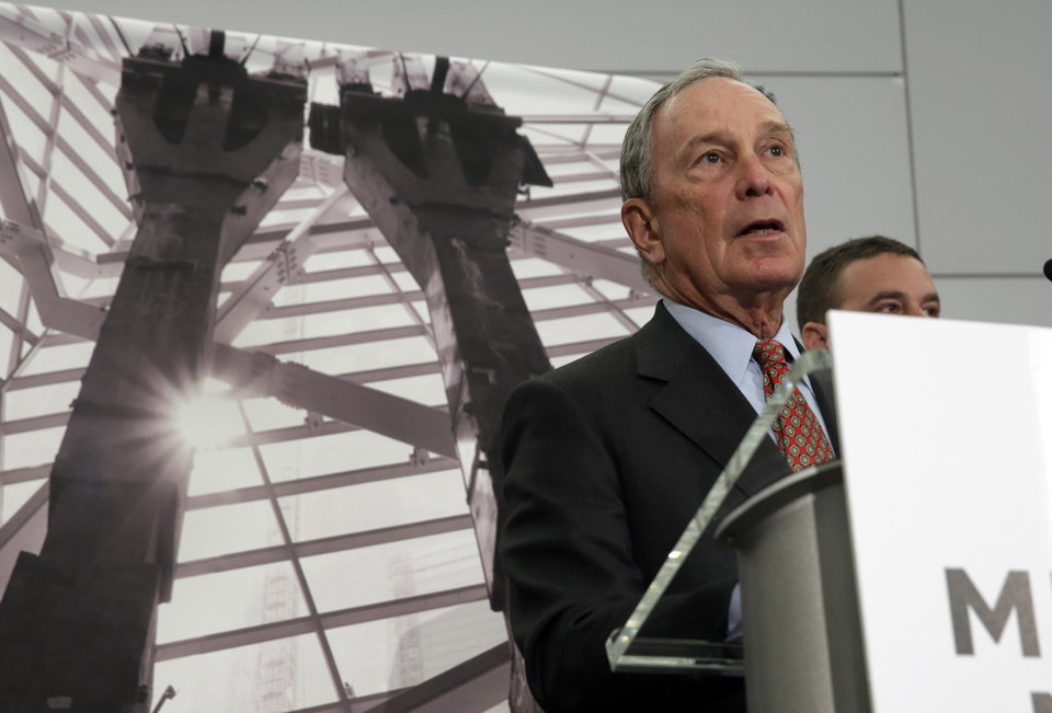 Photo - Former New York Mayor Michael Bloomberg, Chairman of the Sept. 11 Museum, addresses a news conference in the venue, in New York, Wednesday, May 14, 2014. Leaders of the soon-to-open Sept. 11 museum are portraying it as a monument to unity and resilience. (AP Photo)
