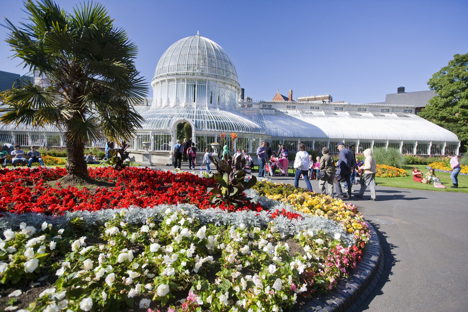 Photo - This 2010 image provided by the Northern Ireland Tourism Board shows the Botanic Gardens in Belfast, Northern Ireland. It's home to a glass house, hot house, rose gardens and places where students from Queen's University next door can relax between lectures. The garden is one of a number of free places to visit in Belfast.  (AP Photo/NITB)