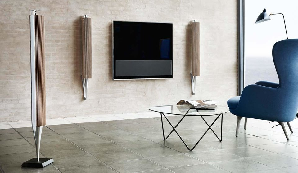 Pictured are Bank & Olufsen Beolab 18 speakers. Photo provided <strong></strong>