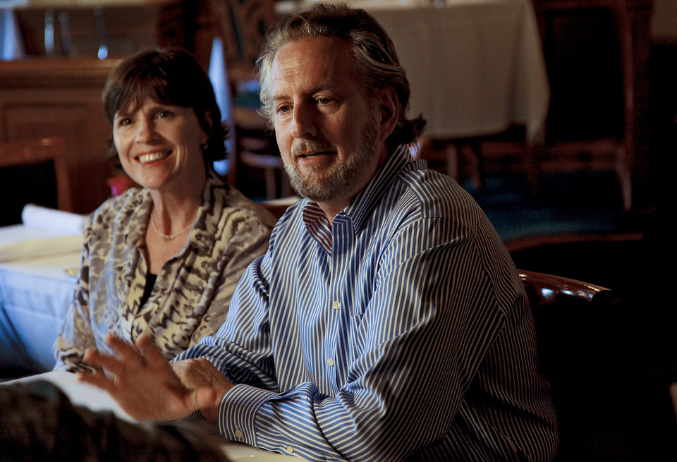 Photo - The Metro Wine Bar and Bistro owners Chris, right, and LaVeryl Lower speak about their restaurant that has been among Oklahoma City's most respected restaurants for nearly two decades. Photo by Chris Landsberger, The Oklahoman  CHRIS LANDSBERGER - THE OKLAHOMAN