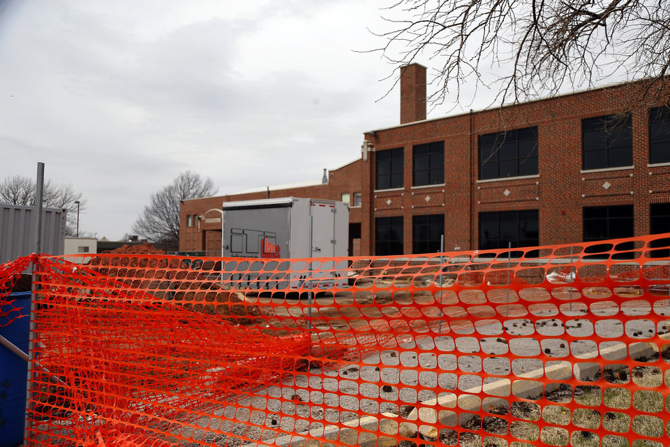 Photo - A $3.3 million renovation project at Boulevard Academy, 215 N Boulevard, continues inside and outside the building that was built in 1924. PHOTO BY SARAH PHIPPS, THE OKLAHOMAN.  SARAH PHIPPS - THE OKLAHOMAN
