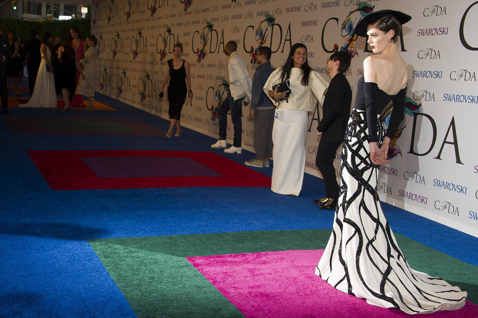 Photo - Coco Rocha attends the CFDA Fashion Awards on Monday, June 2, 2014 in New York. (Photo by Charles Sykes/Invision/AP)