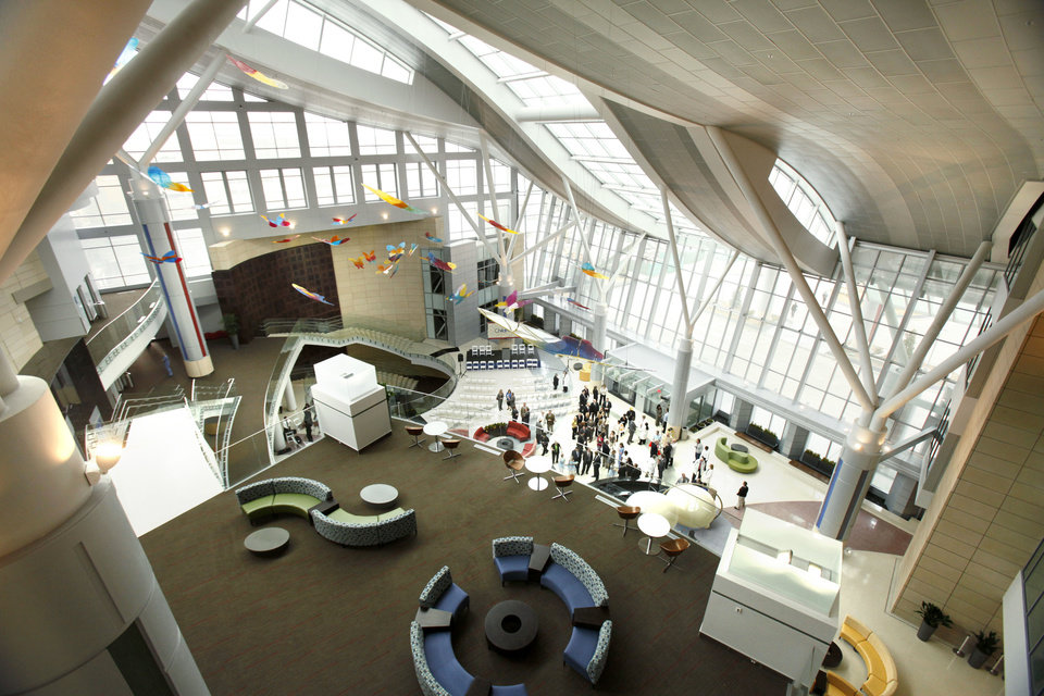 OPEN / OPENING: The Children's Atrium at OU Children's Physicians and The Children's Hospital at OU Medical Center in Oklahoma City, OK, was opened during a ceremony, Tuesday, March 22, 2011. By Paul Hellstern, The Oklahoman <strong>PAUL HELLSTERN</strong>