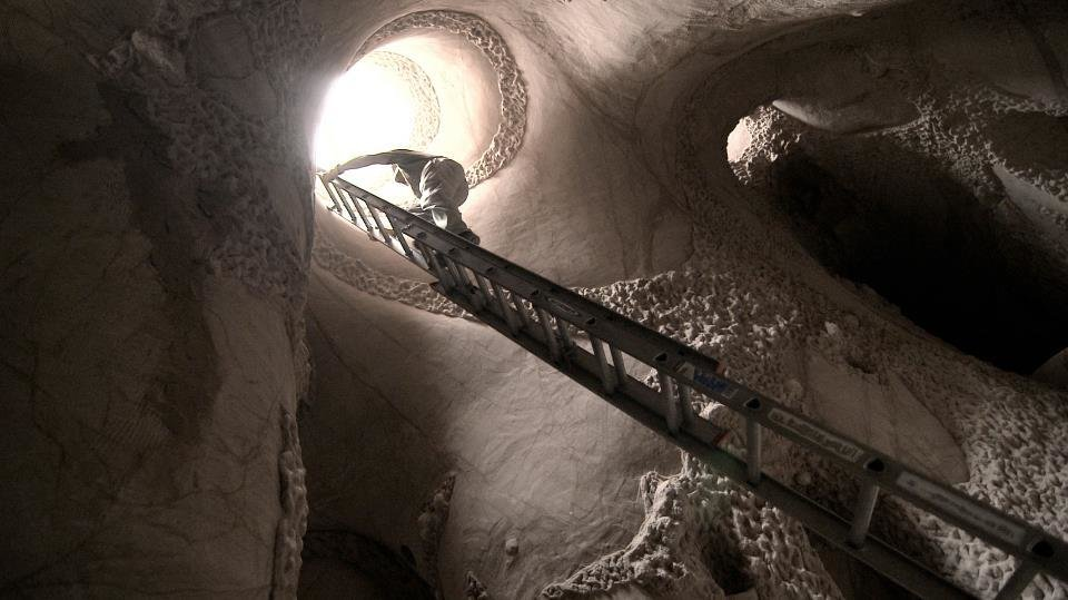 """Photo -  New Mexico environmental sculptor Ra Paulette is shown in a scene from the Oscar-nominated documentary short subject """"CaveDigger."""" Photo provided."""
