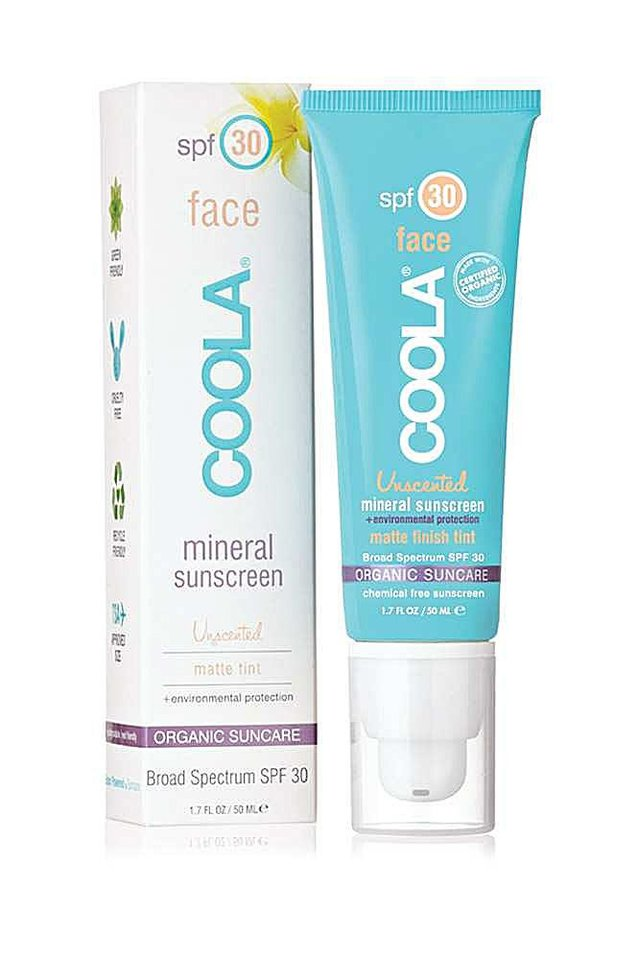 Photo - New sun protection products do more than just block the harmful rays, they add in moisturizers and anti-aging compounds and even makeup. This is Coola SPF 30 Sunscreen with matte-finish tint. (Los Angeles Times/MCT)