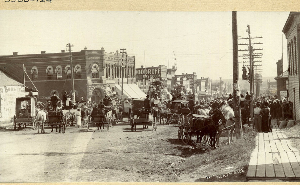 Since its birth as a state, Oklahoma has seen land travel progress from horse and buggies to fuel- and electric-powered automobiles. Photo provided by  the Oklahoma Historical Society