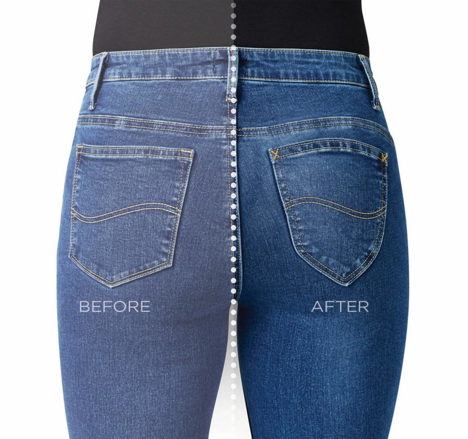 Photo - Lee Shape Illusions jeans -- Before + After