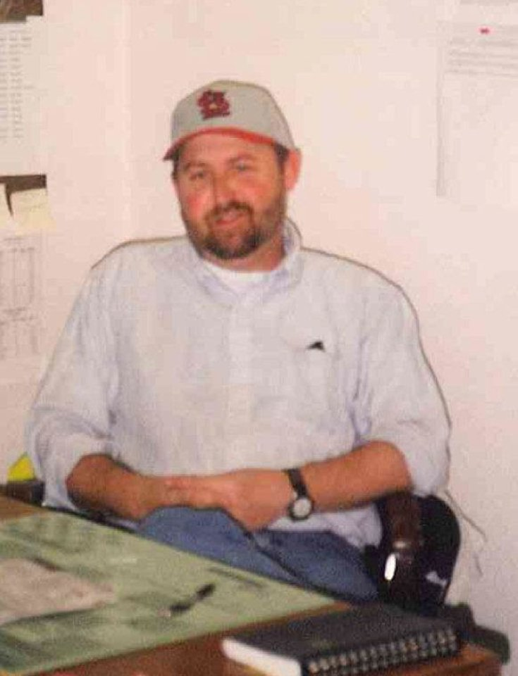 Photo - Oklahoma Department of Transportation inspector Terry Clubb died after he was pinned between in overturned tractor trailer and a guardrail in the median of Interstate 40 near Interstate 35.  Provided
