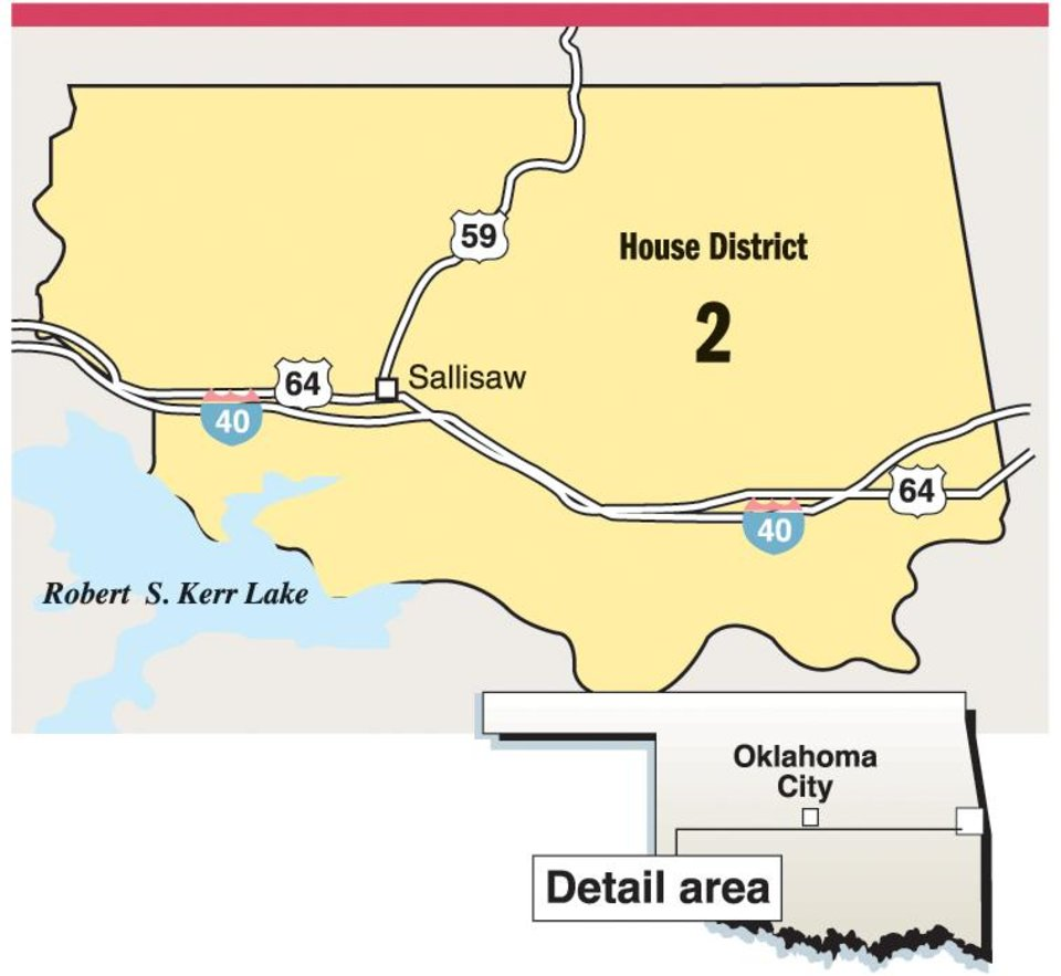 Photo - House District 2 / Sallisaw / MAP - GRAPHIC