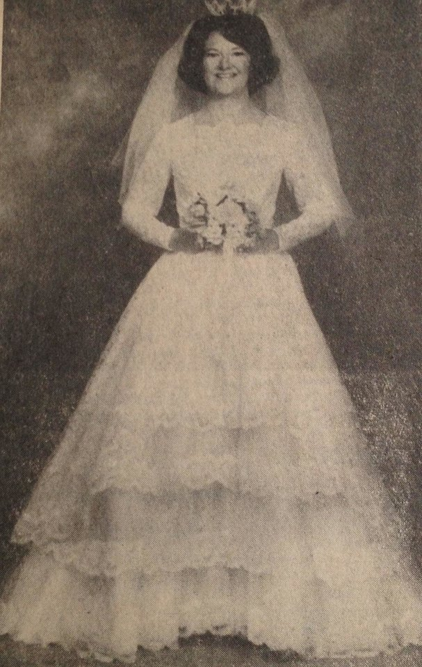 Photo - A desire for her mother to make her wedding gown led to the one Anna Jo Crothers Putman said,