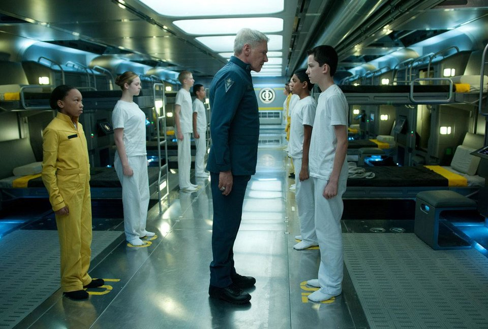 "Harrison Ford plays Col. Hyrum Graff and Asa Butterfield plays Ender Wiggin in the big-screen adaptation of ""Ender's Game."" Summit Entertainment  photo <strong></strong>"