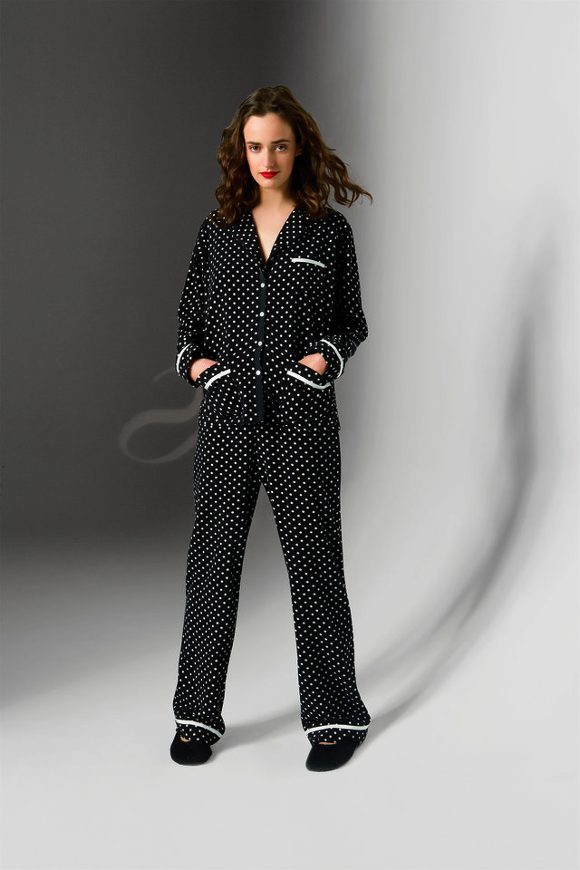 Photo - Pin dot pajamas from Kohl's.   Style: