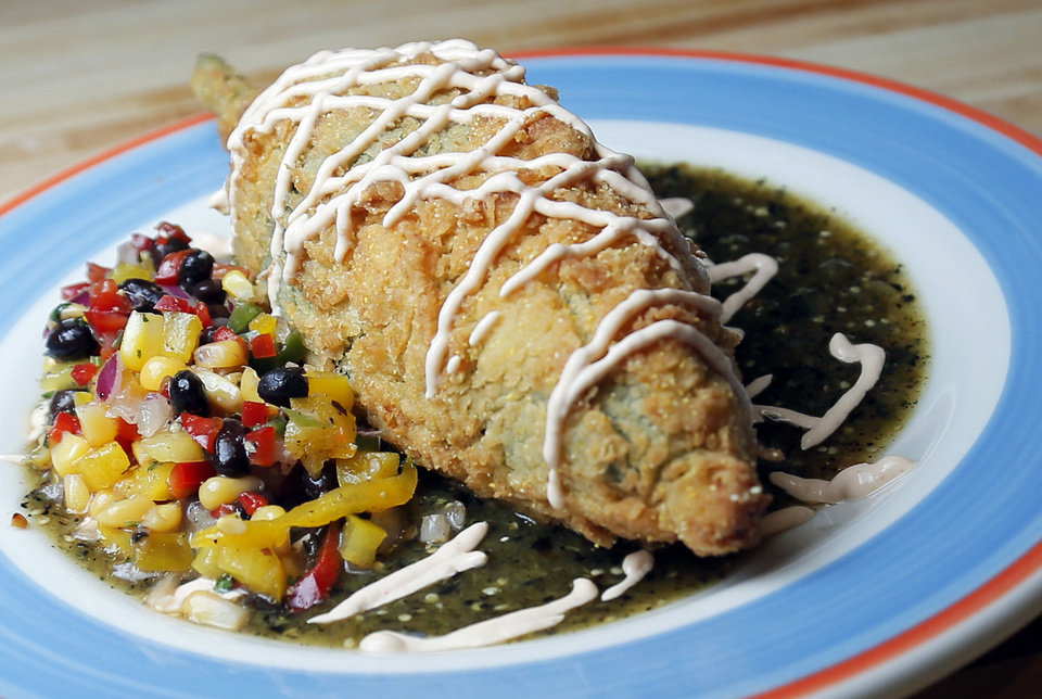 Stuffed Poblano at Redrock Canyon Grill in Oklahoma City, Monday, Nov. 5, 2012. Photo by Nate Billings, The Oklahoman