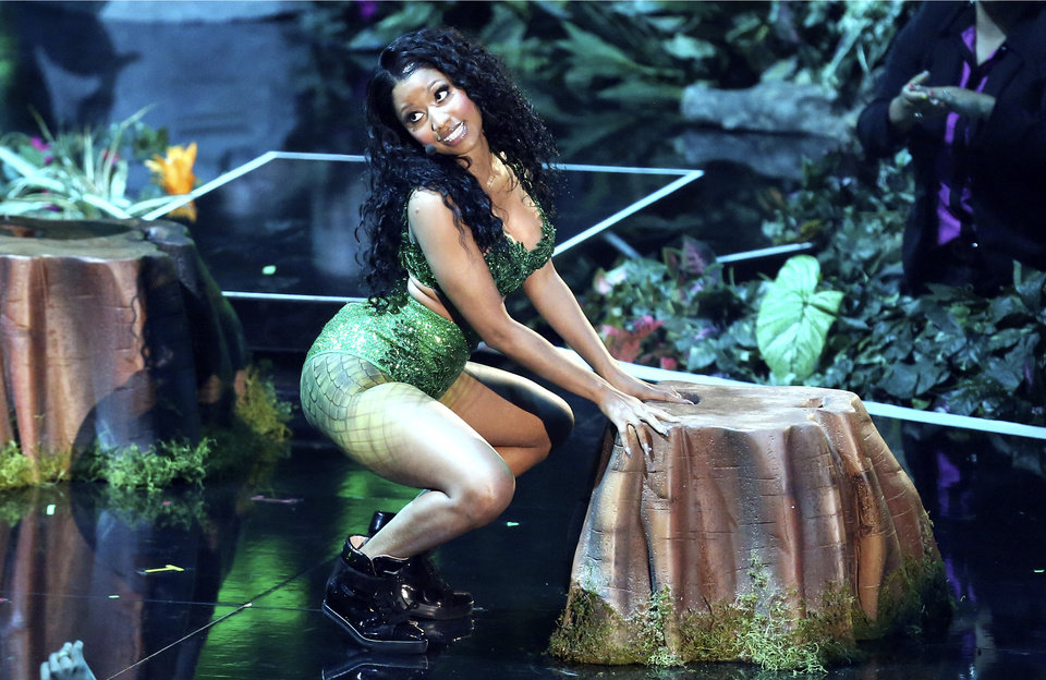 Photo - Nicki Minaj performs at the MTV Video Music Awards at The Forum on Sunday, Aug. 24, 2014, in Inglewood, Calif. (Photo by Matt Sayles/Invision/AP)