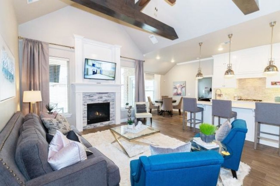 Photo -  A look inside a model home by Homes By Taber at 1620 Reid Pryor Road, in Norman's Cedar Lane addition, for the Festival of Homes, organized by the Builders Association of South Central Oklahoma.  [PHOTO PROVIDED BY HOMES BY TABER]