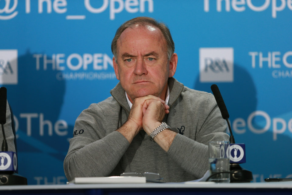 Photo - The Royal and Ancient Golf Club's Chief Executive Peter Dawson attends a press conference ahead of the British Open Golf championship at the Royal Liverpool golf club, Hoylake, England, Wednesday July 16, 2014. The British Open Golf championship starts Thursday July 17. (AP Photo)