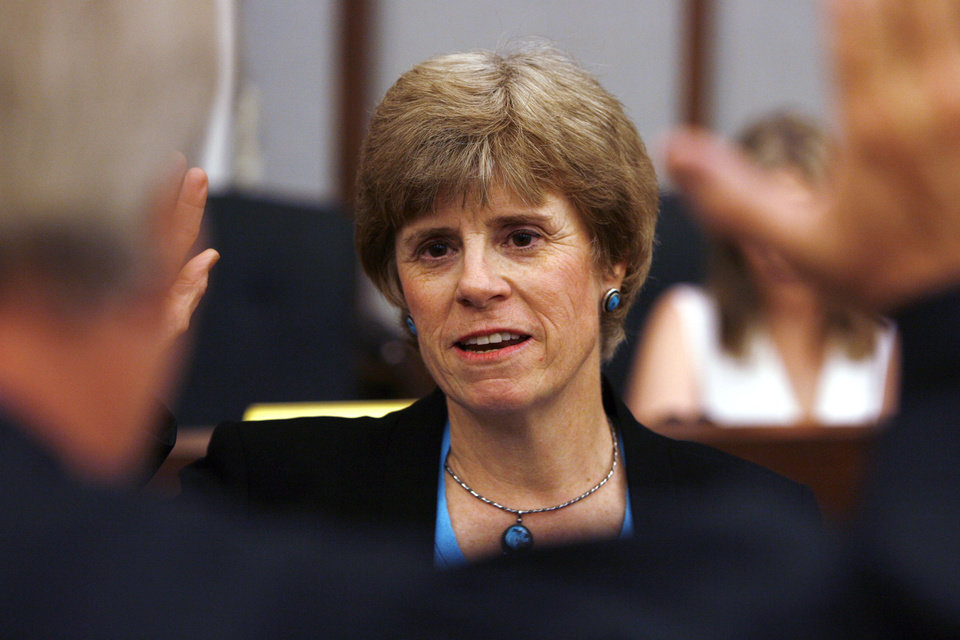 New Mayor Cindy Rosenthal is sworn into office in Norman, Oklahoma on Wednesday, July 3, 2007. BY STEVE SISNEY, THE OKLAHOMAN
