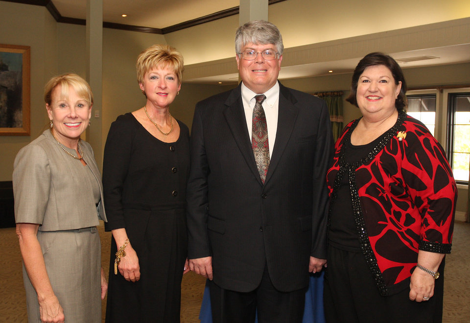 Photo - Lana Lopez, Jane Thompson, Robert and Sody Clements. Photo by David Faytinger for The Oklahoman__
