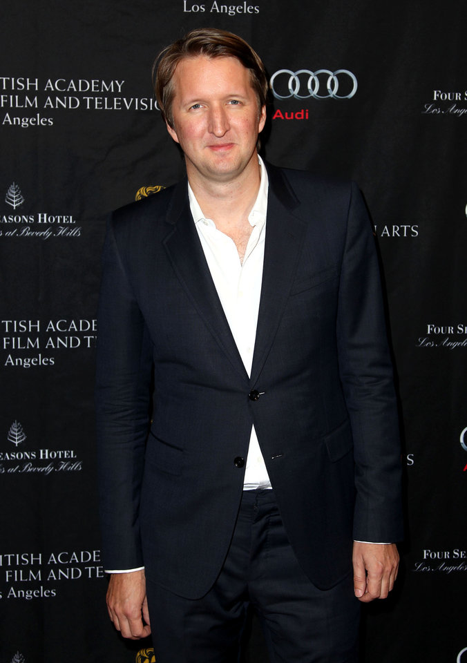 Director Tom Hooper arrives at the BAFTA Awards Season Tea Party at The Four Seasons Hotel on Saturday, Jan. 12, 2013, in Los Angeles. (Photo by Matt Sayles/Invision/AP)