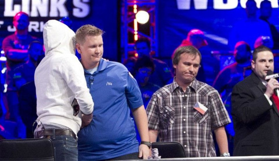 Photo - Ben Lamb, second from left, at the World Series of Poker.  Courtesy WSOP.