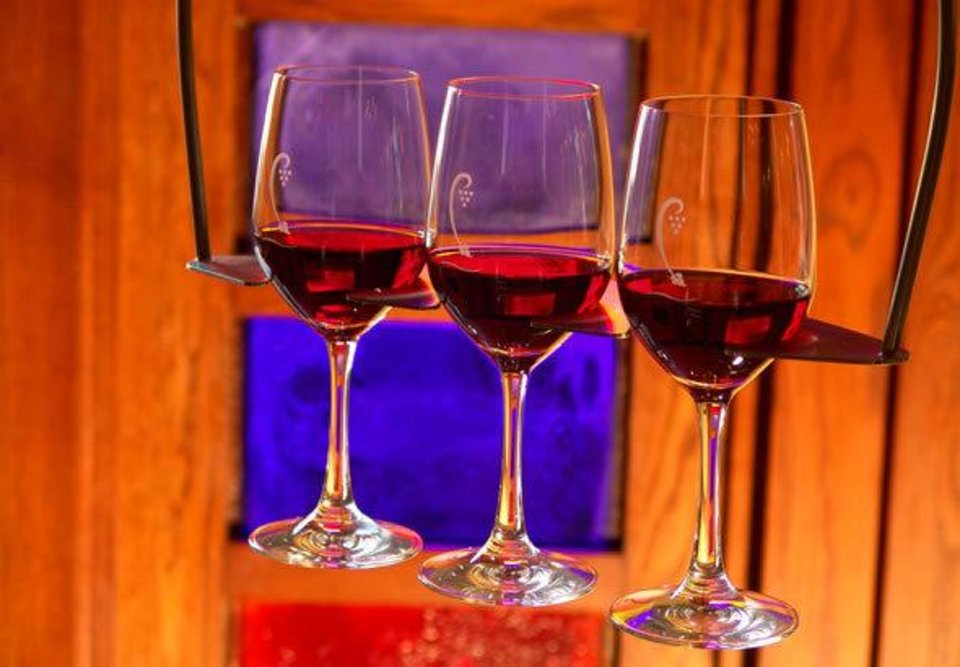 Photo - A flight of wine is shown at Cru Food & Wine Bar. Photo provided by Cru Food & Wine Bar