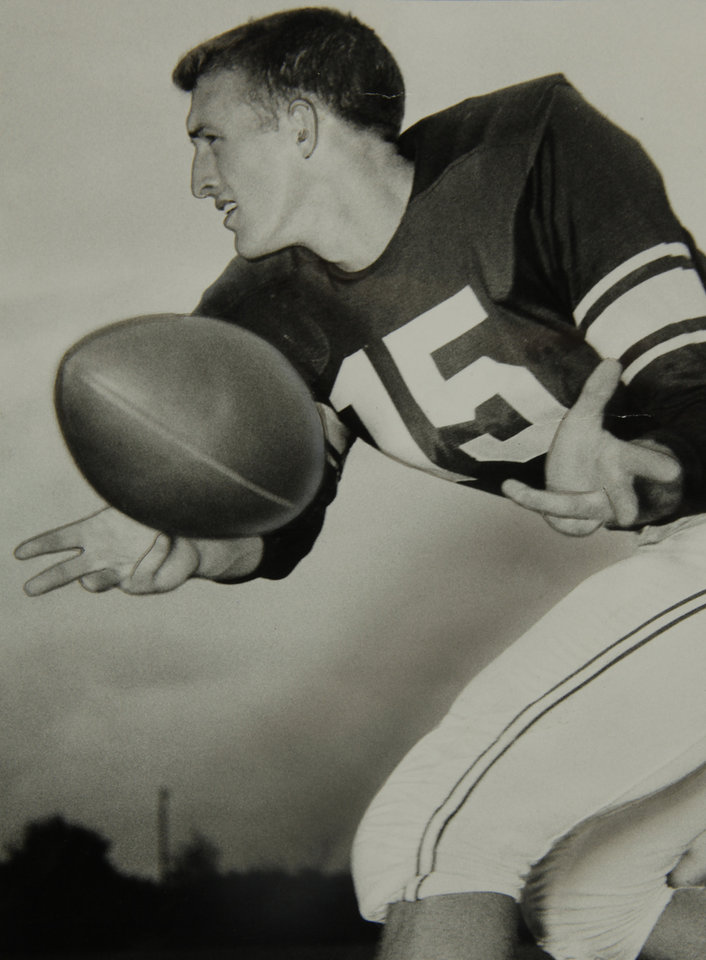Photo - Copy photo of OU quarterback Jimmy Harris