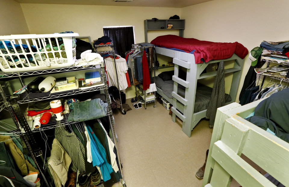 Photo -  Dorm rooms house six clients and their possessions at the Christian Alcoholics & Addicts in Recovery (CAAIR) rehab center in Jay. [Photo by Steve Sisney, The Oklahoman]