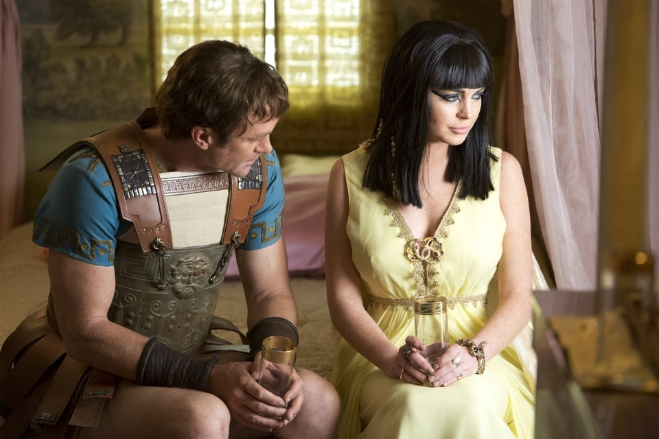 Photo -   This publicity image released by Lifetime shows Grant Bowler as Richard Burton, left, and Lindsay Lohan as Elizabeth Taylor in the Lifetime Original Movie,