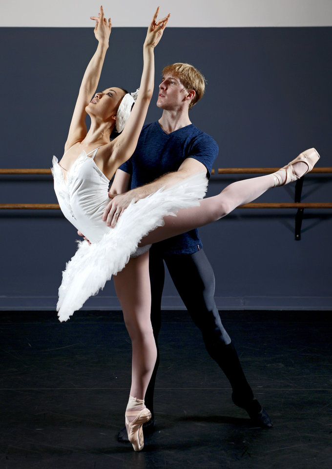 "Houston Ballet stars Nao Kusuzaki and Christopher Coomer will perform the lead roles in the Oklahoma City Ballet production of ""Swan Lake.""  Photo by Bryan Terry, The Oklahoman"