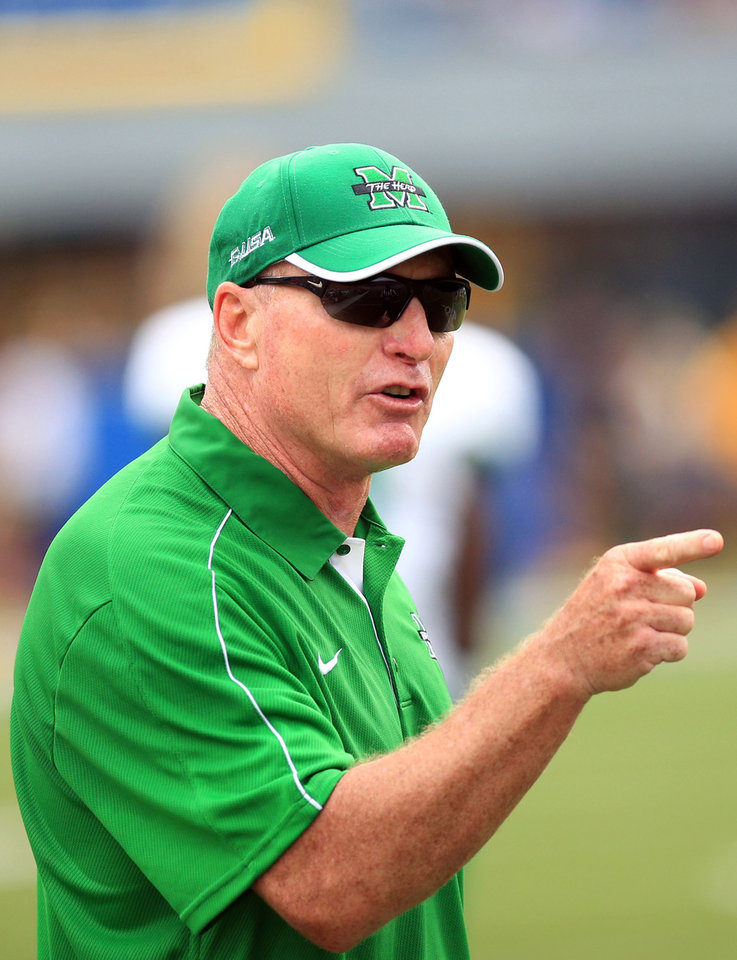 Photo -   Marshall coach John