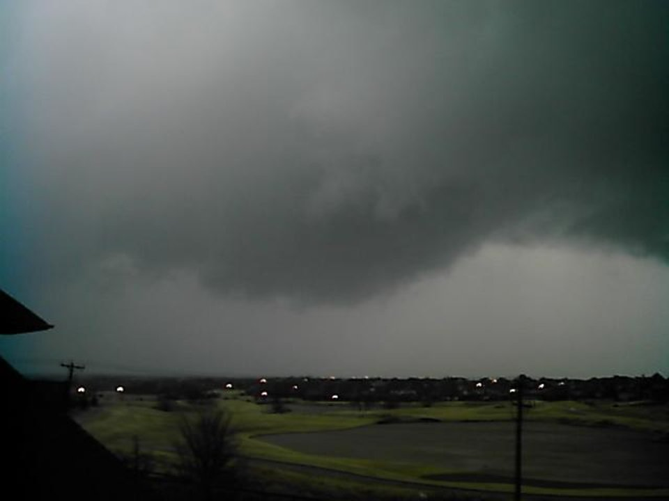 Photo - Lori Robertson of Edmond took this photo around 4:30pm. Circulation was over 164th and May heading northeast.