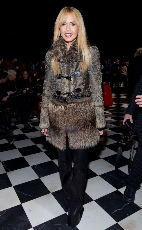 Photo - Rachel Zoe attends the Fall 2013 Tommy Hilfiger Runway Show, on Sunday, Feb. 10, 2013 in New York. (Photo by Dario Cantatore/Invision/AP)